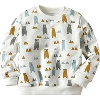 Casual Bear Patterned Long-sleeve Pullover for Toddler Boy