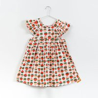 Cute Strawberry Pattern  Ruffle-sleeve Dress for Toddler Girl and Girl