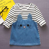 Striped Stitch Cat Dress