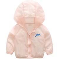 Waterproof Cartoon Print Hooded Sun-proof  Jacket for Toddler and Kid