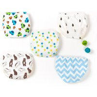 5-pack Comfy Cute Printed Underwears for Toddler Boy