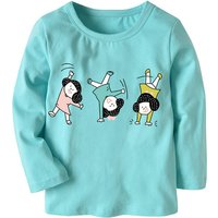 Lovely Girl Print Long-sleeve Top for Toddle Girl and Girl