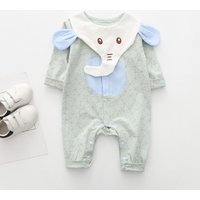 Trendy Geo Patterned Elephant Design Jumpsuit for Baby