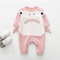 Cool Shark Design Long-sleeve Jumpsuit for Baby