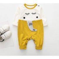 Lovely Elephant Design Long-sleeve Jumpsuit for Baby