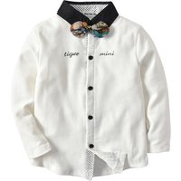 Stylish Letter Print Long-sleeve Shirt for Toddler Boy and Boy