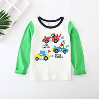 Cute Cartoon Print Long-sleeve Top for Baby and Kid