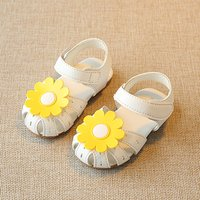 Pretty Flower Decor Sandals for Baby and Toddler Girl
