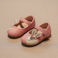 Cute Rabbit Applique Velcro Shoes for Baby and Toddler Girl