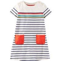 Pretty Striped Short Sleeves Dress for Girls