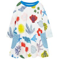 Pretty Sea Animals Pattern Long Sleeves Dress for Baby and Toddler Girl