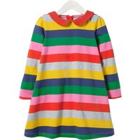Colorful Striped Long-sleeve Dress for Toddler Girl and Girl