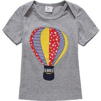 Comfy Hot Air Balloon Applique Short Sleeves Tee for Toddler Boy and Boy