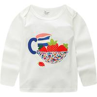 Pretty Cartoon Print Long-sleeve T-shirt for Baby Girl and Girl