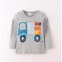 Comfy Truck Print Long Sleeves Top for Toddler Boy