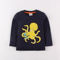 Comfy Big Octopus Applique Top for Toddler Boy
