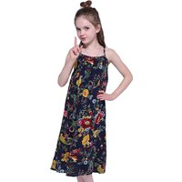 Stylish Floral Print Sleeveless Backless Slip Dress for Baby Girl and Girl