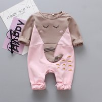 Cute Elephant Design Long-sleeve Jumpsuit for Baby