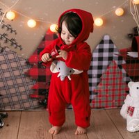 Baby's Super Cute 3D Elephant Hooded Winter Jumpsuit