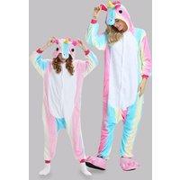 Trendy Unicorn Design Hooded Mommy and Me Onesie Pajamas