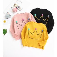 Baby/ Toddler Girl's Crown Pattern Knitted Top