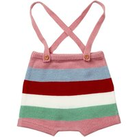 Trendy Color Block Stripes Knit Strap Pants for Baby