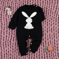 Cute Long Sleeves Rabbit Knit Jumpsuit