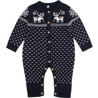 Baby's Long Sleeves Christmas Knit Jumpsuit