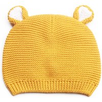 Cute Ears Solid Knit Hat for Baby