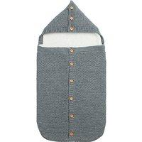 Baby's Anti-kick Knit Hooded Sleeping Bag