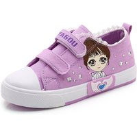 Pretty Girl Print Velcro Canvas Shoes for Girls