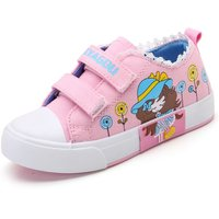 Pretty Cartoon Girl Print Velcro Canvas Shoes for Toddler Girl and Girl