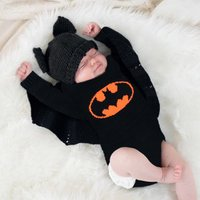 Stylish Batwing-sleeved Knitted Long-sleeve Bodysuit for Baby
