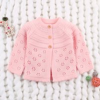 Baby Girl's Hollow out Knitted Cardigan