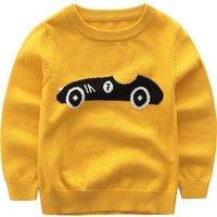 Stylish Car Design Long-sleeve Sweater for Boy