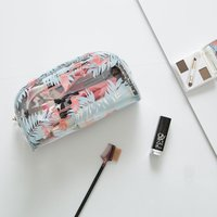 Transparent Zip-up Cosmetic Storage Bag