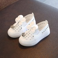 Pretty Bow Decor Hollow Out Slip-on Shoes for Toddler Girl and Girl