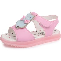 Lovely Cat and Rhinestone Decor Velcro Sandals for Toddler Girl and Girl