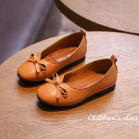 Stylish Solid Bow Decor PU Leather Slip-on Shoes for Girl