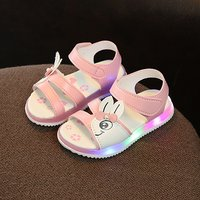 Cute Rabbit Design LED Sandals for Toddler Girl