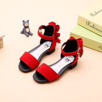 Chic Ruffle Decor Suede Flat Snadals for Girls