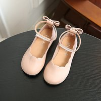 Chic Bowknot Strap Flats for Toddler Girls