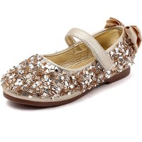 Glitter Bowknot Sequins Flats for Toddler Girl