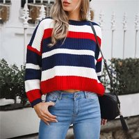 Stunning Contrast Long-sleeve Pullover