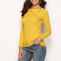 Trendy Solid Knitted Top