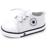Trendy Star Appliqued Canvas Shoes for Toddler Girl
