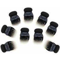 12-pack Stylish Solid Hairpin Set in Black for Baby Girl