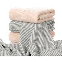 1 Pc Comfy Striped Cotton Towel