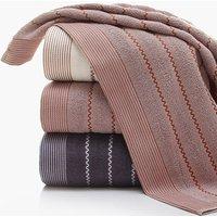 1 Pc Comfy Wave Embroidered Cotton Bath Towel