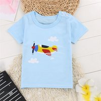 Trendy Plane Print Short-sleeve Tee for Baby Boy and Boy